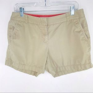 J Crew Tan Chino Shorts Size 8
